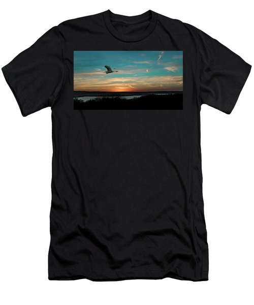 Flight To The Lake Men's T-Shirt (Athletic Fit)