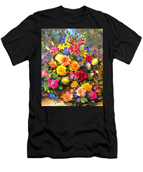 Floral Bouquet In Acrylic Men's T-Shirt (Athletic Fit)