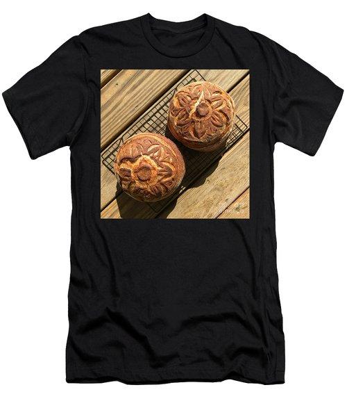 Floral Scored Sourdough Men's T-Shirt (Athletic Fit)