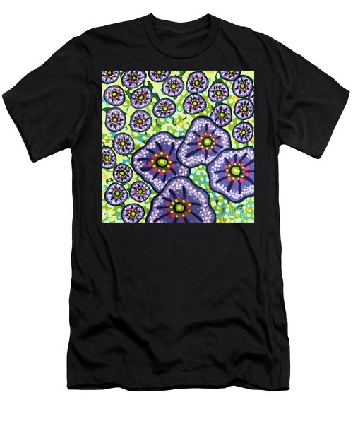 Floral Whimsy 4 Men's T-Shirt (Athletic Fit)