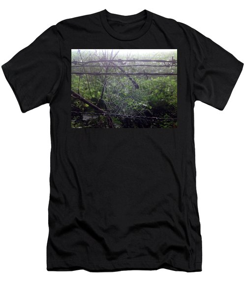 Men's T-Shirt (Athletic Fit) featuring the photograph Foggy Web by Ericamaxine Price