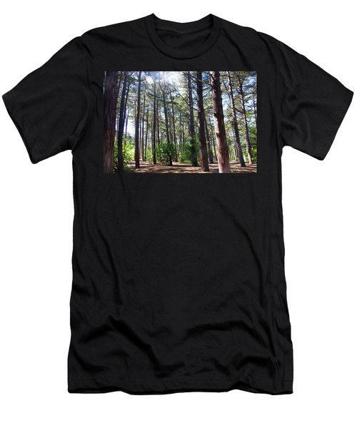 Formby. Woodland By The Coast Men's T-Shirt (Athletic Fit)