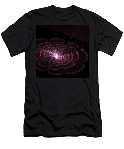 Fractal Rose Men's T-Shirt (Athletic Fit)