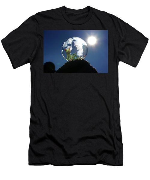 Men's T-Shirt (Athletic Fit) featuring the digital art Frog Relaxing In A Bubble by Ericamaxine Price