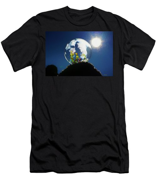 Men's T-Shirt (Athletic Fit) featuring the digital art Frogs In A Bubble by Ericamaxine Price