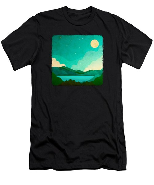 Full Moon Dreams And Mountains Of Green Men's T-Shirt (Athletic Fit)