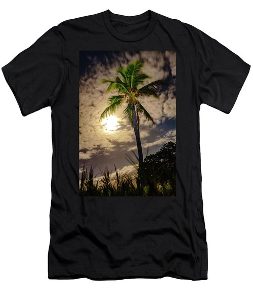 Full Moon Palm Men's T-Shirt (Athletic Fit)