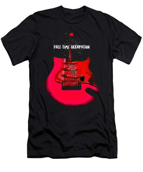 Full Time Occupation Guitar Men's T-Shirt (Athletic Fit)