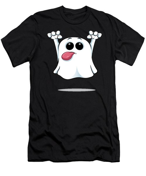 Funny Ghost Men's T-Shirt (Athletic Fit)