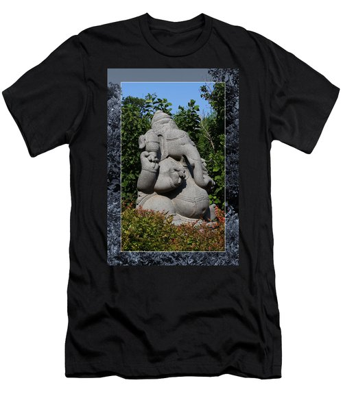 Men's T-Shirt (Athletic Fit) featuring the photograph Ganesha In The Garden by Debi Dalio