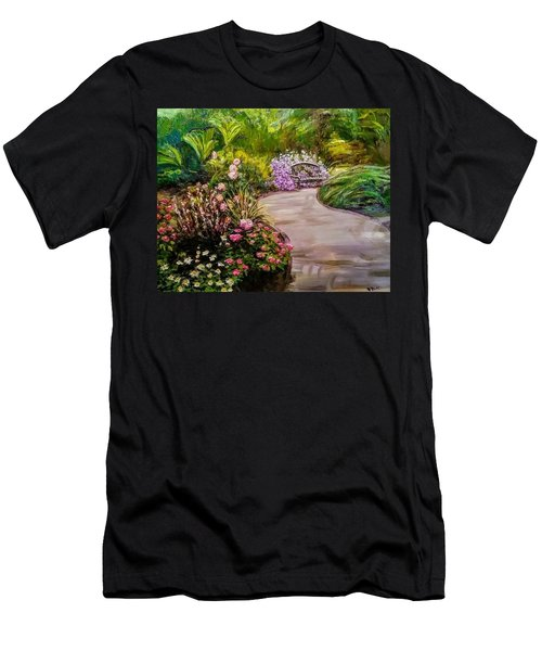 Path To The Garden Bench At Evergreen Arboretum Men's T-Shirt (Athletic Fit)