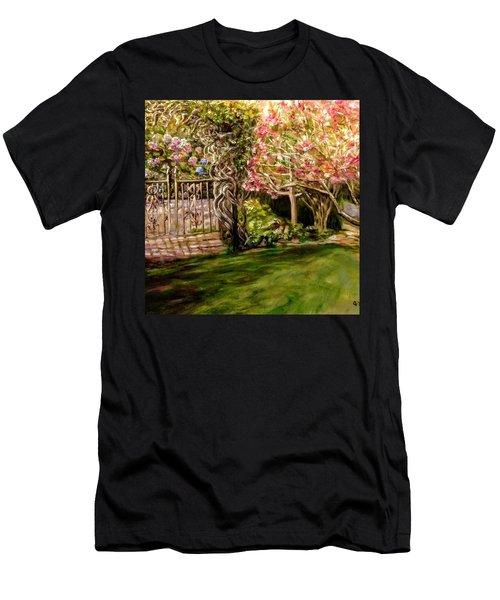 Garden Gate At Evergreen Arboretum Men's T-Shirt (Athletic Fit)