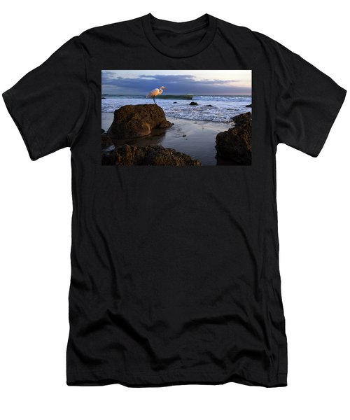 Giant Egret Men's T-Shirt (Athletic Fit)