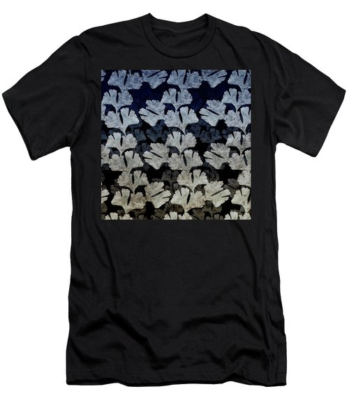 Ginko Leaf Pattern Men's T-Shirt (Athletic Fit)