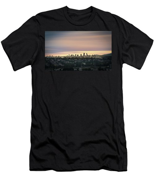 Gloden Sky On Vancouver Men's T-Shirt (Athletic Fit)