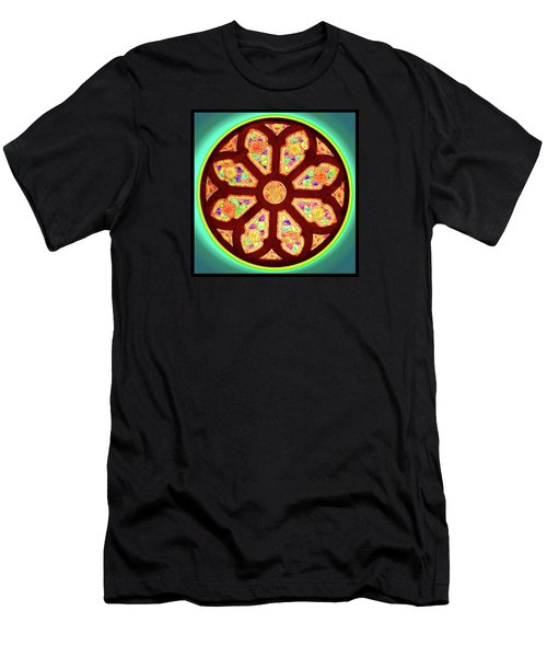 Glowing Rosette Men's T-Shirt (Athletic Fit)