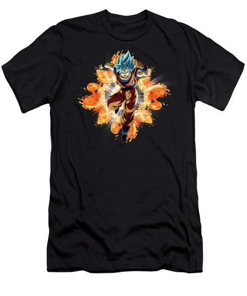 Goku Blue Men's T-Shirt (Athletic Fit)