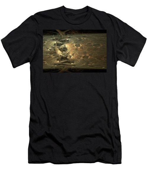 Golden Soul - Modern Abstract Art Men's T-Shirt (Athletic Fit)