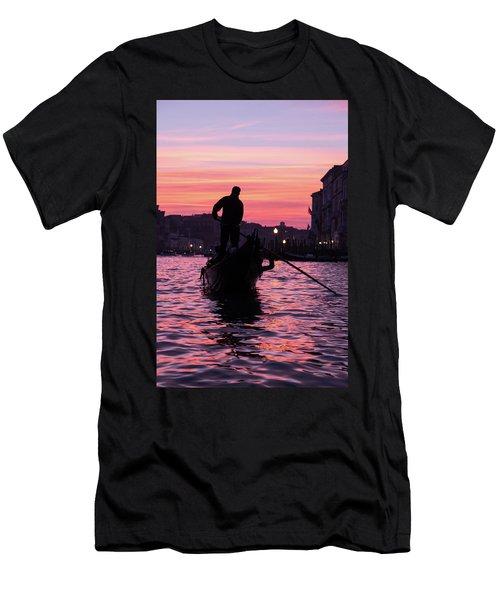 Gondolier At Sunset Men's T-Shirt (Athletic Fit)