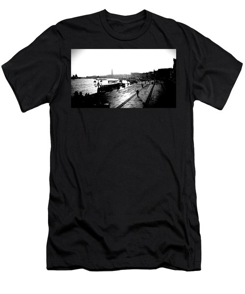 Grand Canal At Sunset Men's T-Shirt (Athletic Fit)