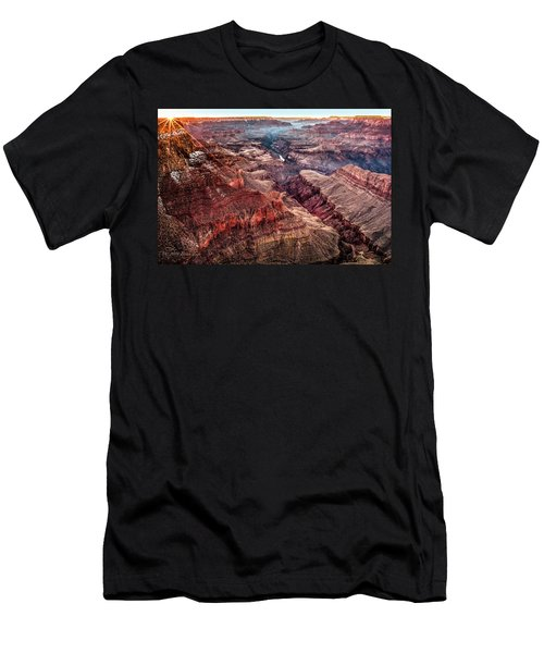 Grand Canyon Winter Sunset Men's T-Shirt (Athletic Fit)