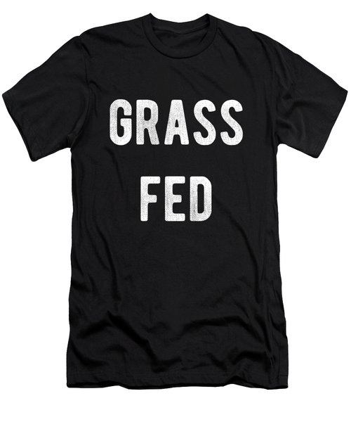 Men's T-Shirt (Athletic Fit) featuring the digital art Grass Fed by Flippin Sweet Gear