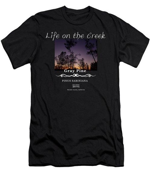Gray Pine Men's T-Shirt (Athletic Fit)
