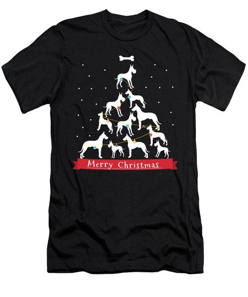 Great Dane Christmas Tree  Men's T-Shirt (Athletic Fit)