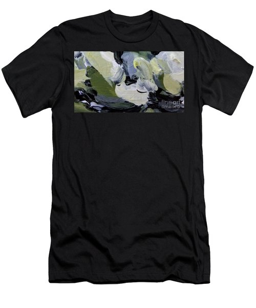 Men's T-Shirt (Athletic Fit) featuring the painting Green #2 by Maria Langgle