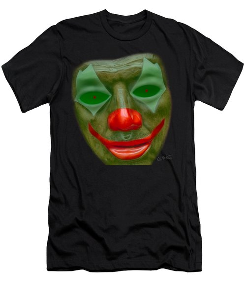 Green Clown Face Men's T-Shirt (Athletic Fit)