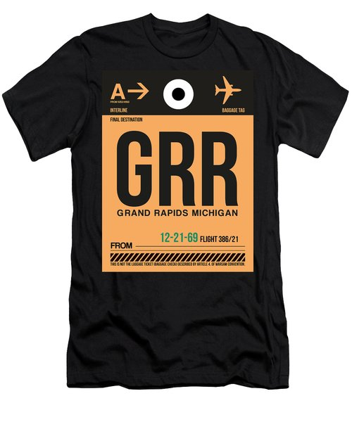Grr Grand Rapids Luggage Tag I Men's T-Shirt (Athletic Fit)