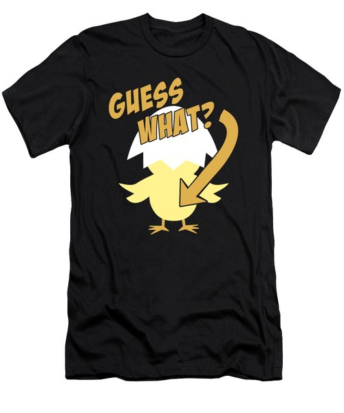 Guess What Chicken Butt Funny Men's T-Shirt (Athletic Fit)
