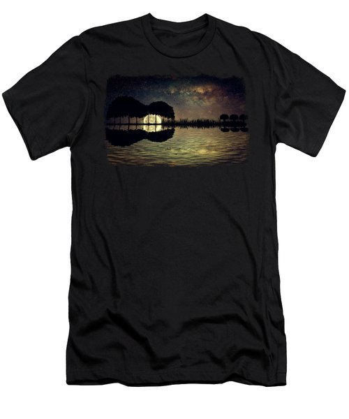 Guitar Island Moonlight Men's T-Shirt (Athletic Fit)