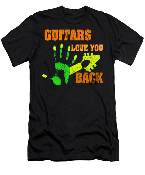 Guitars Love You Back Men's T-Shirt (Athletic Fit)