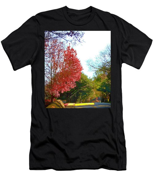 Men's T-Shirt (Athletic Fit) featuring the photograph Half Full... by Don Moore
