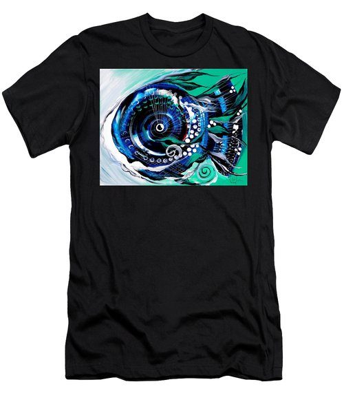 Half-smile, Break The Ice Fish Men's T-Shirt (Athletic Fit)