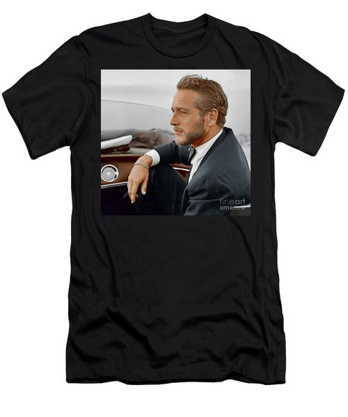 Hand Colored Picture Of Paul Newman Men's T-Shirt (Athletic Fit)