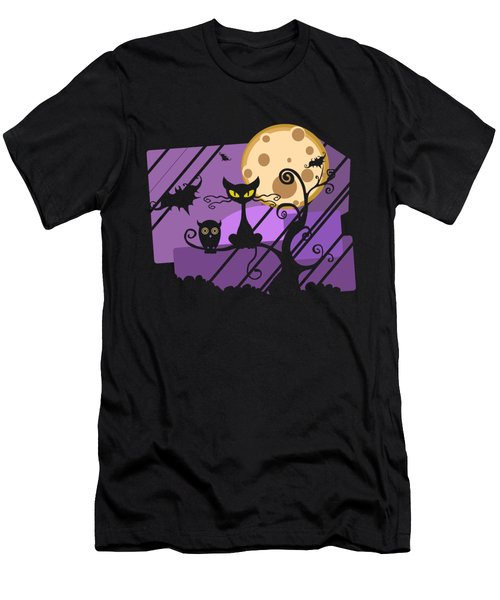 Happy Halloween Cat Men's T-Shirt (Athletic Fit)
