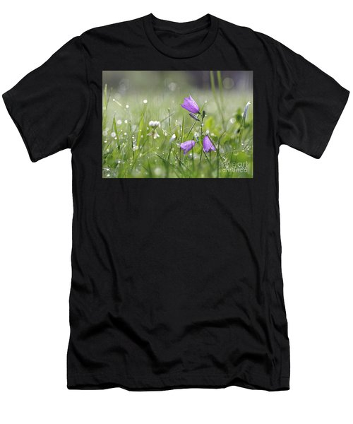 Harebells And Water Drops Men's T-Shirt (Athletic Fit)