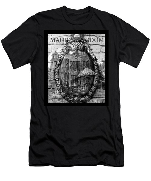 Haunted Mansion Mash Up Art Men's T-Shirt (Athletic Fit)