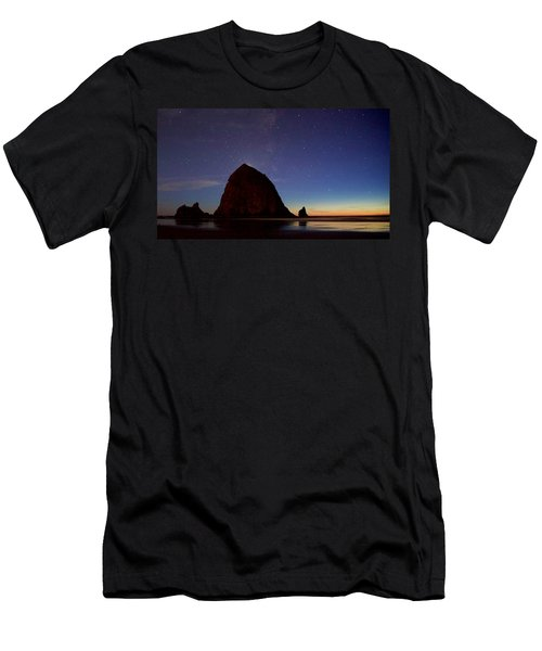 Haystack Night Sky Men's T-Shirt (Athletic Fit)