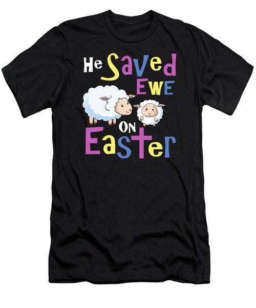 He Save Ewe On Easter Cute Easter Shirts Kids Men's T-Shirt (Athletic Fit)