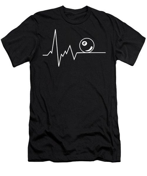 Heartbeat Billard Men's T-Shirt (Athletic Fit)