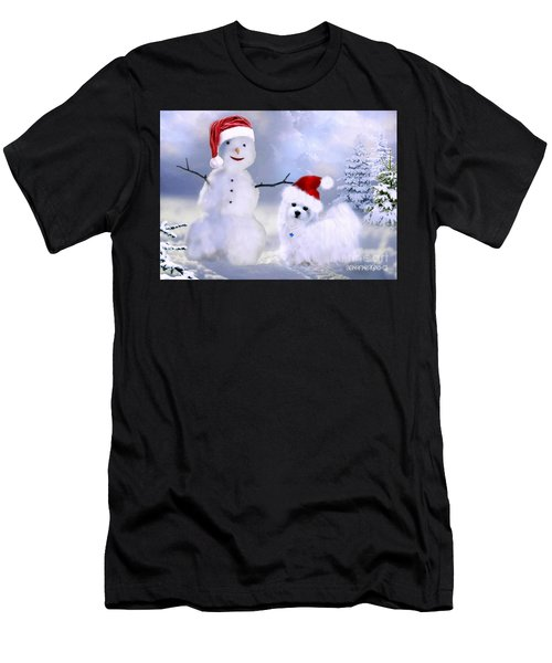 Hermes And Snowman Men's T-Shirt (Athletic Fit)