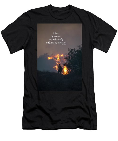 Men's T-Shirt (Athletic Fit) featuring the photograph Hero by Lynn Bauer