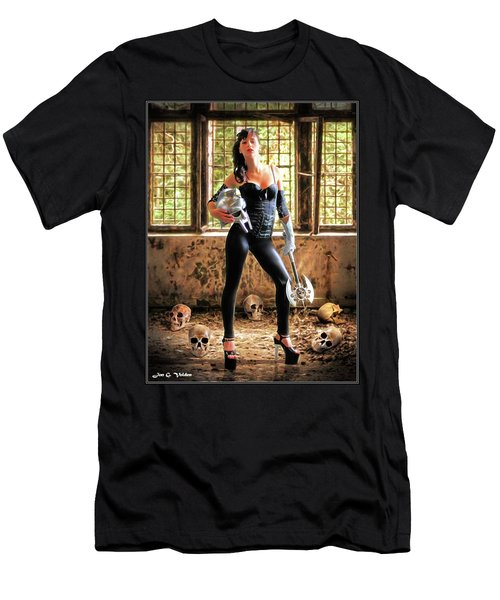 High Heeled Zombie Slayer Men's T-Shirt (Athletic Fit)
