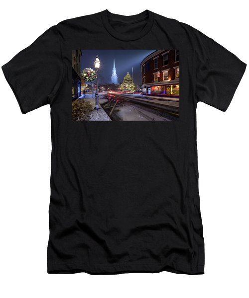 Holiday Magic, Market Square Men's T-Shirt (Athletic Fit)