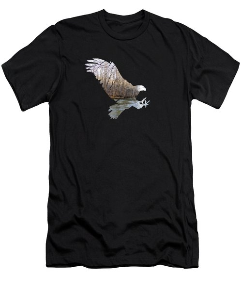 Hunting Eagle Men's T-Shirt (Athletic Fit)