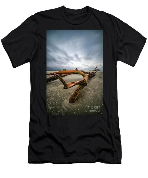 Hurricane Florence Beach Log - Portrait Men's T-Shirt (Athletic Fit)