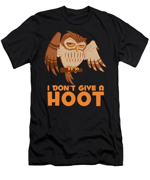 I Don't Give A Hoot Owl Men's T-Shirt (Athletic Fit)